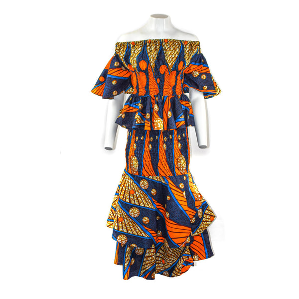 Off-Shoulder Ankara Set