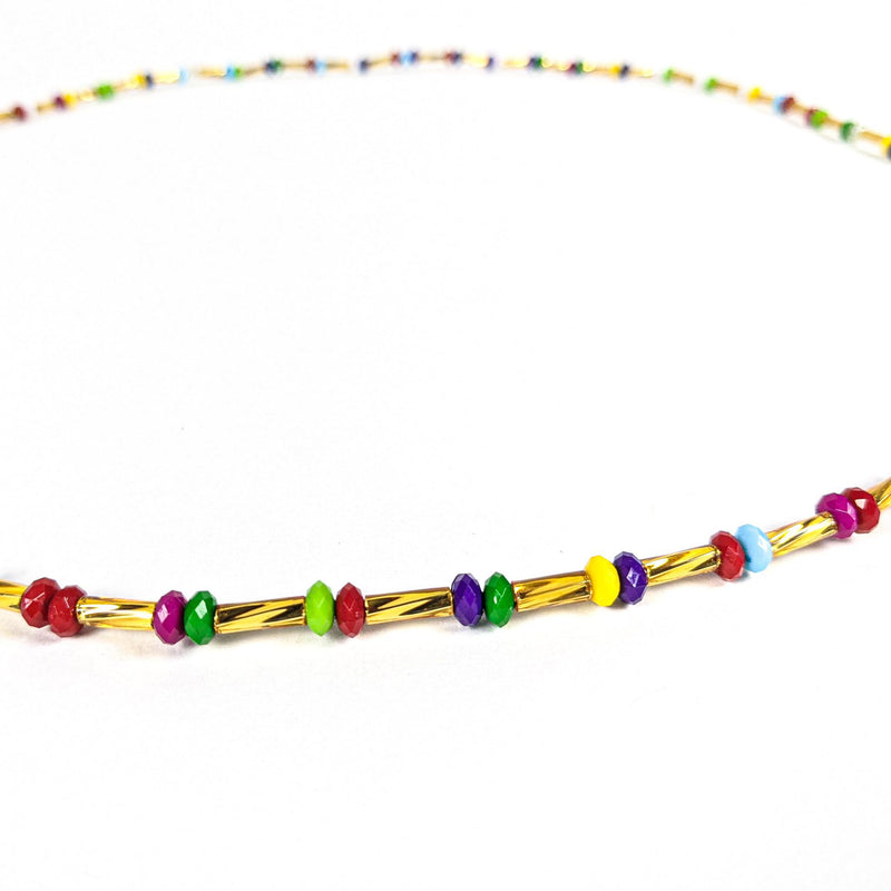 Multicolored String Tie Waist Beads