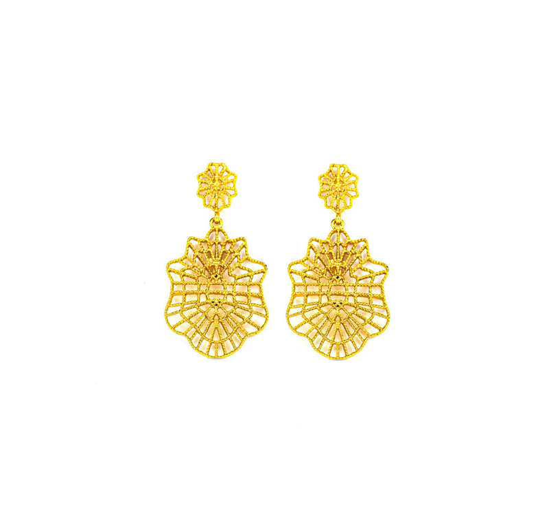 Gold Gentric Shaped Earring