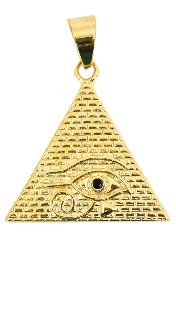 Gold Eye of Providence Pendant Chain
