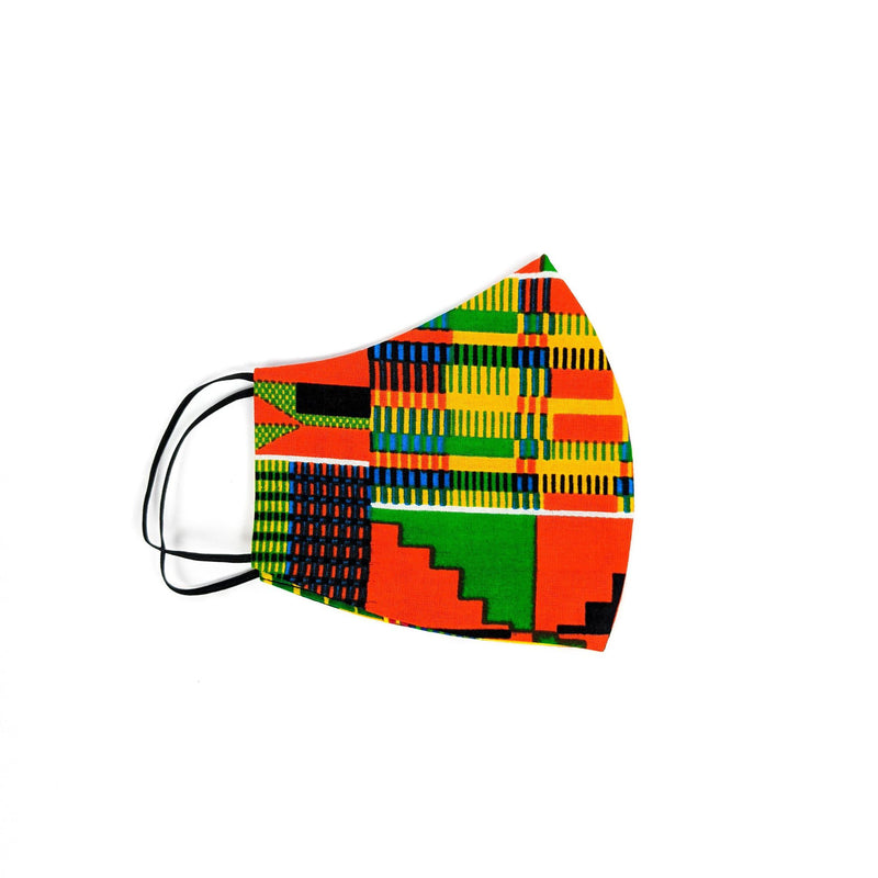 Kente Face Mask with Disposal Filters