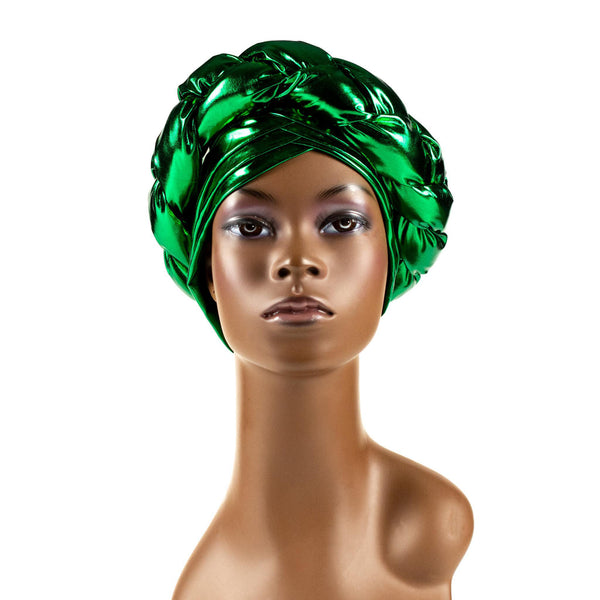 Green Braided Turban