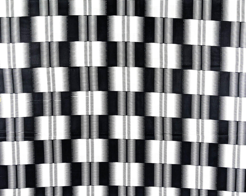 Black and White African Wax Fabric