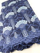 Shades of Blue Cotton Lace