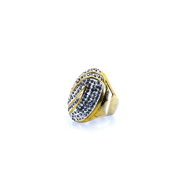 Gold Women's Oval Ring