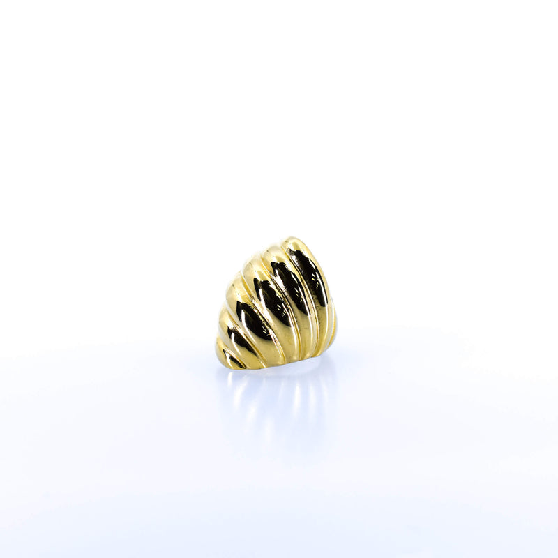 Women's Gold Striped Stack Ring