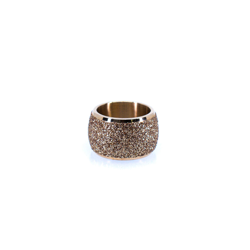 Women's Round Rose Gold Ring
