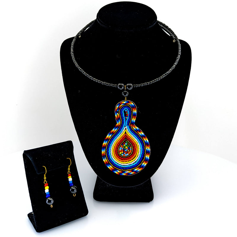 Massai Pendant Necklace Set