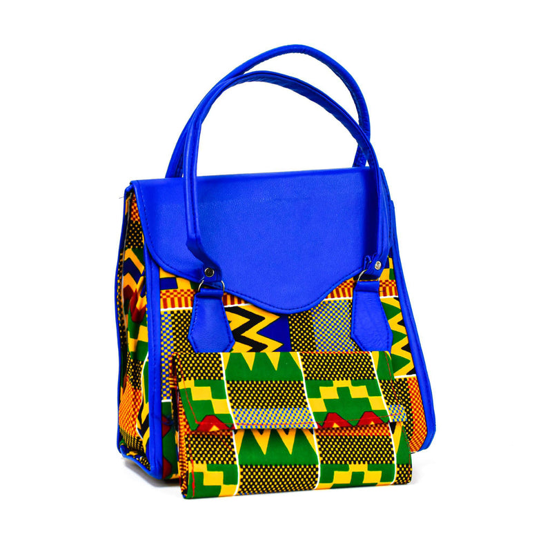 Blue Kente Tote Bag