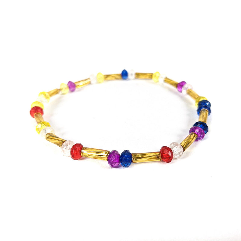 Gold Multicolored Anklet