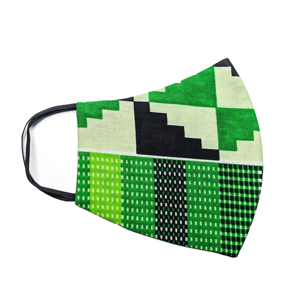 Handmade Kente Print Cloth Mask with Disposable Filter