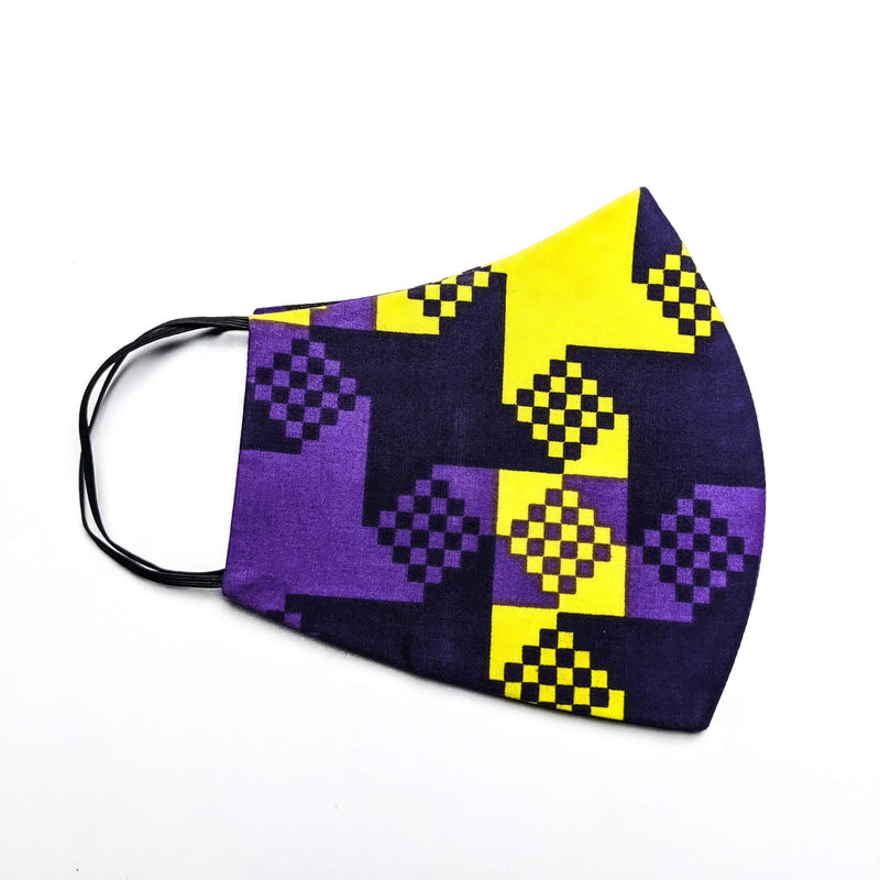 Handmade Ankara Cloth Mask with Disposable Filter