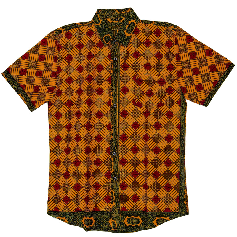 African Wax Print Button-Up - AFRIKAN ATTIRE - #african_clothing -