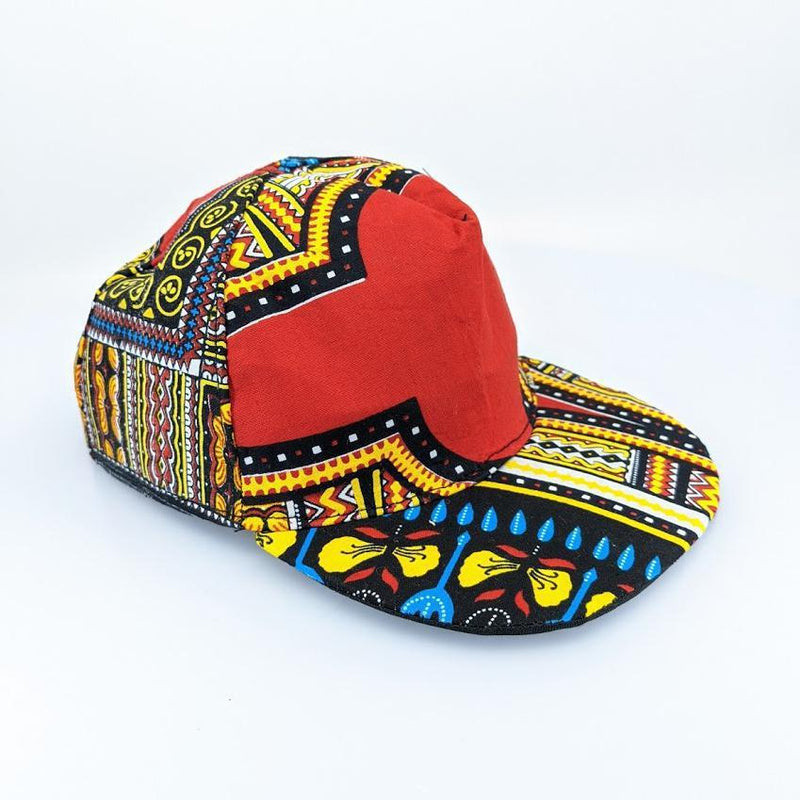 Angelina African Print Cap - AFRIKAN ATTIRE - african_clothing - - african_attireAFRIKAN ATTIRE - african_fashion