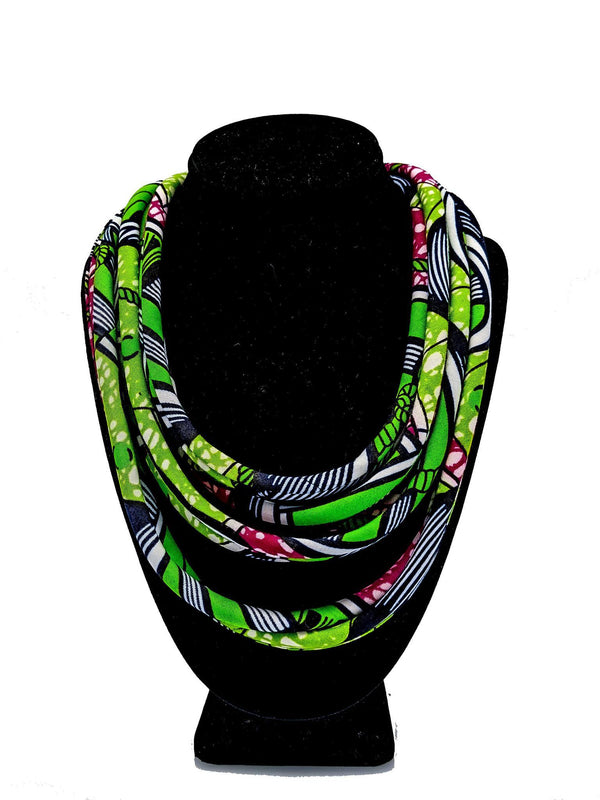 Ankara Necklace - AFRIKAN ATTIRE - african_clothing - - african_attireAFRIKAN ATTIRE - african_fashion