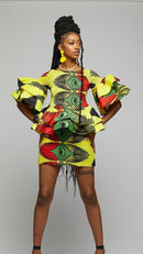$$Ankara Smoked Suit Skirt & Blouse - AFRIKAN ATTIRE - african_clothing - Apparel - african_attireAFRIKAN ATTIRE - african_fashion