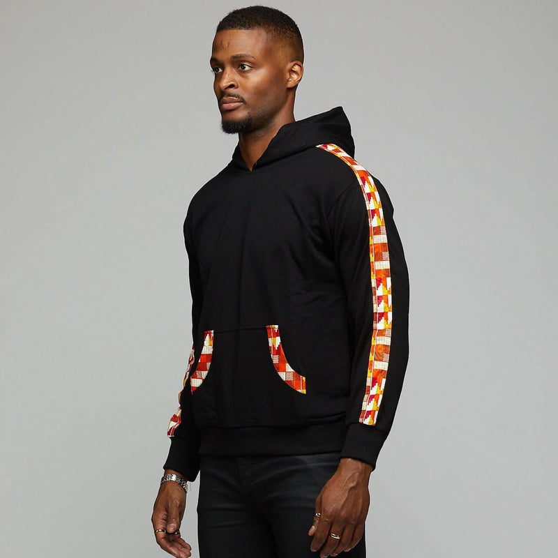 "$$""Ankara Strip"" Hoodie - AFRIKAN ATTIRE - african_clothing - Apparel - african_attireAFRIKAN ATTIRE - african_fashion"