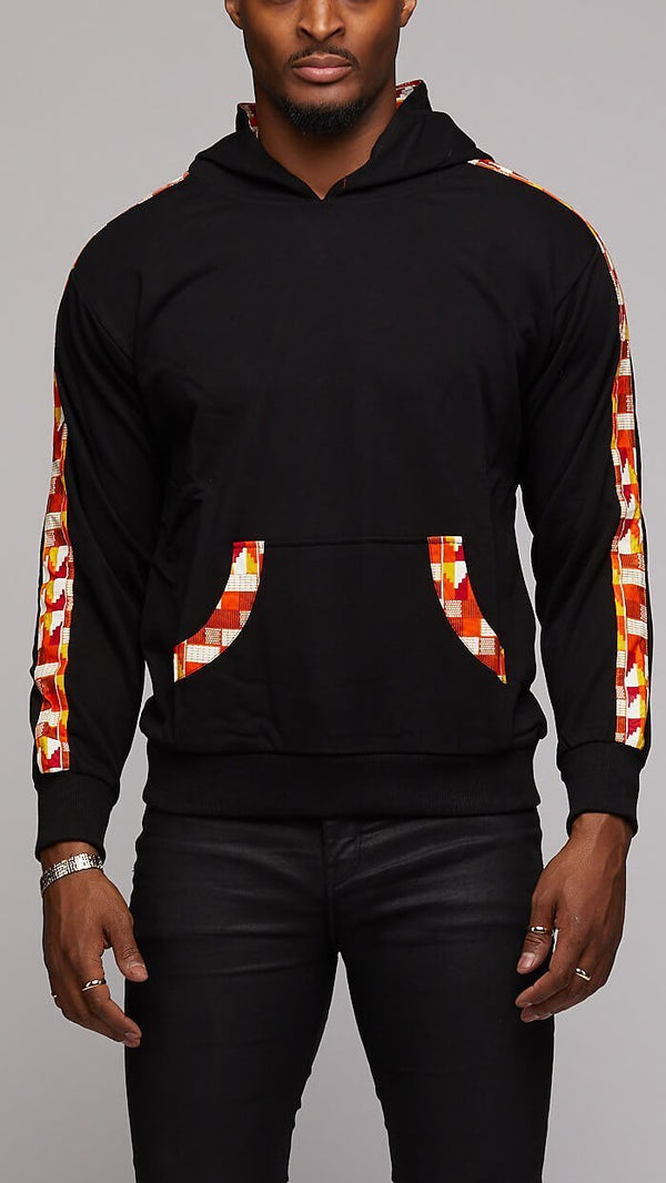 Ankara Strips Hoodie - AFRIKAN ATTIRE - #african_clothing - TOP