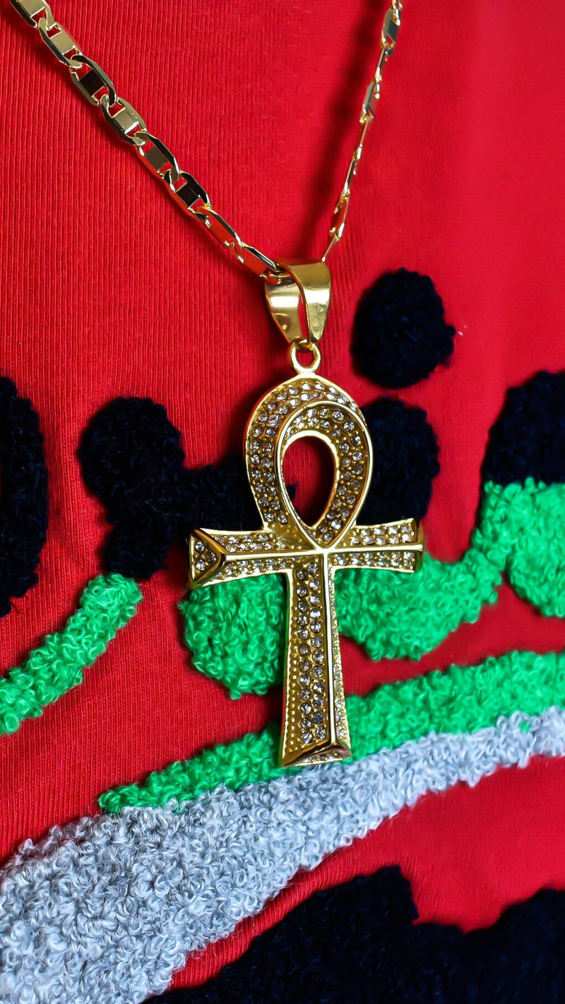 Ankh Symbol of Life Chain - AFRIKAN ATTIRE - #african_clothing - JEWELRY