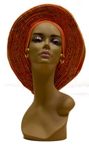 Auto Gele Orange - AFRIKAN ATTIRE -