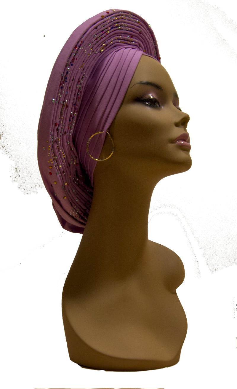Auto Gele Purple - AFRIKAN ATTIRE -
