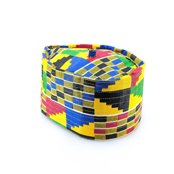 Kente Yellow Kufi Cap