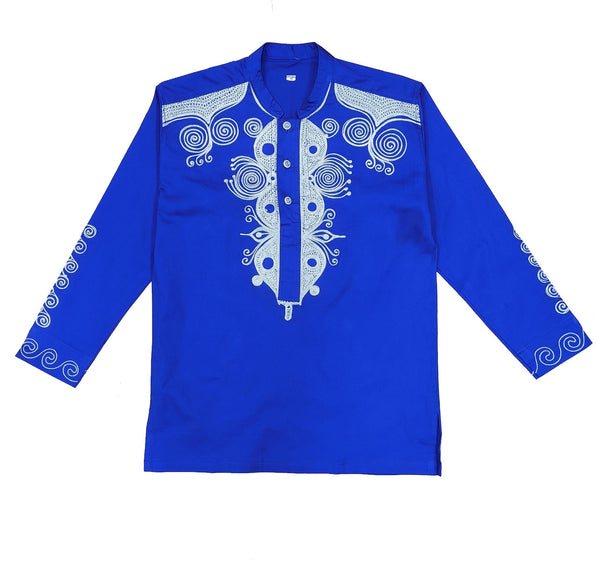 Long Sleeve Embroidery Men's Top