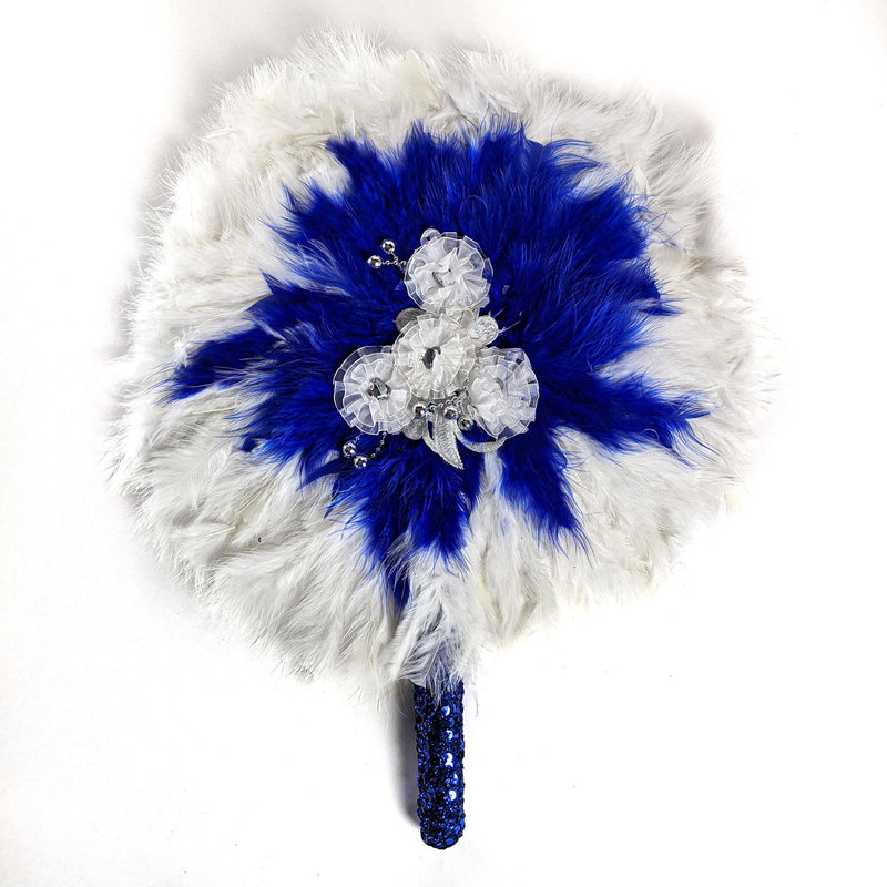 Blue & White Traditional Wedding Hand Fan