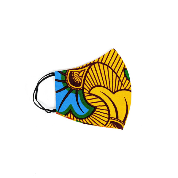 Handmade Ankara Cloth Face Mask with Disposable Filter