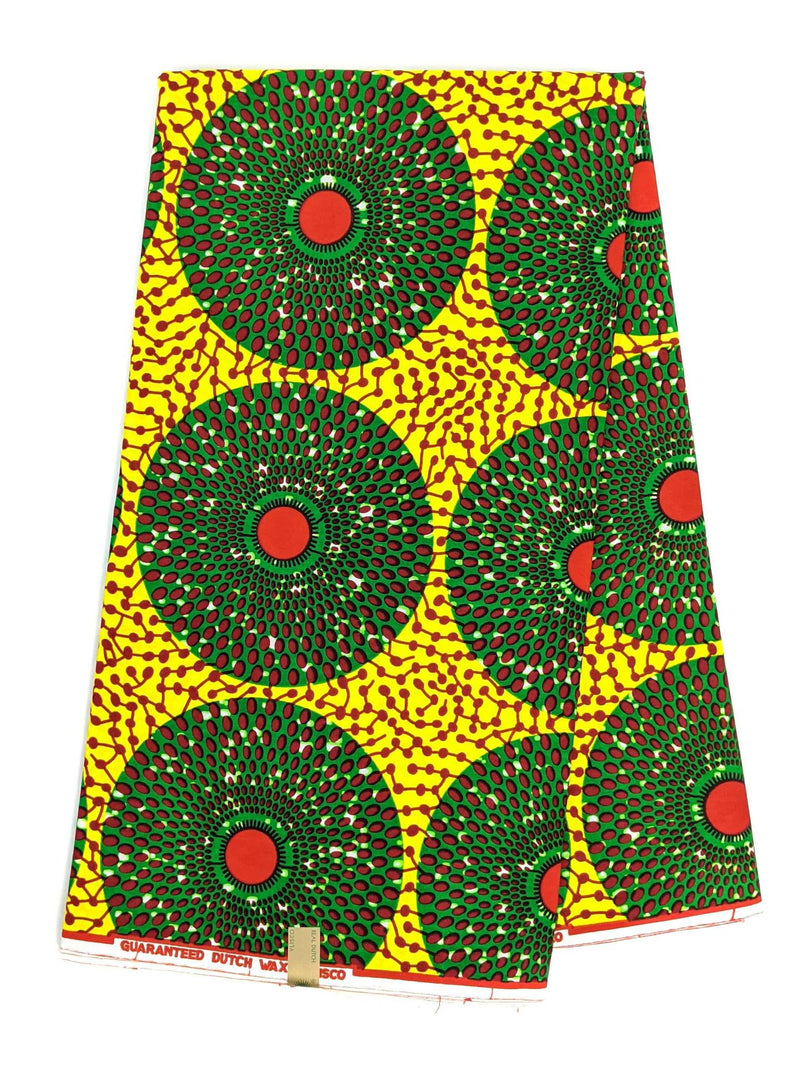 Yellow and Red Ankara Wax Print