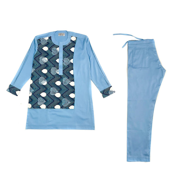 Blue Long Sleeve Set
