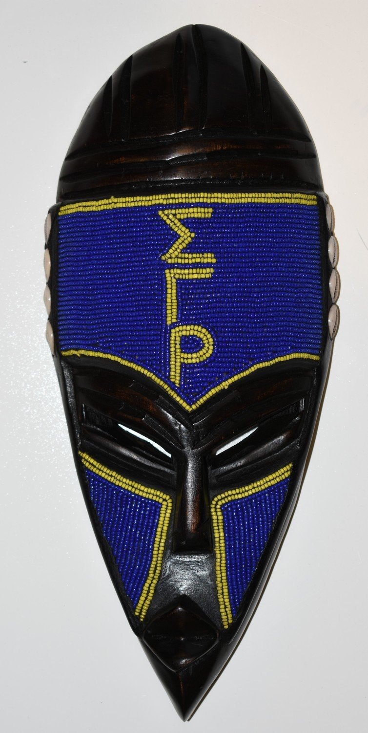 Beaded Fraternity & Sorority Mask - AFRIKAN ATTIRE - #african_clothing - WALL DECOR
