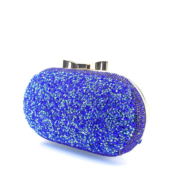 Blue Crystal Clutch Purse - AFRIKAN ATTIRE - african_clothing - - african_attireAFRIKAN ATTIRE - african_fashion