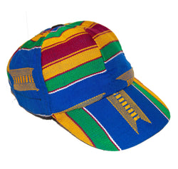 Blue Kente Baseball Cap - AFRIKAN ATTIRE - #african_clothing -