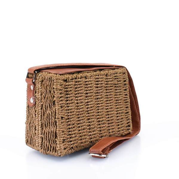 Brown Woven Straw Crossbody Bag Copy - AFRIKAN ATTIRE - african_clothing - - african_attireAFRIKAN ATTIRE - african_fashion