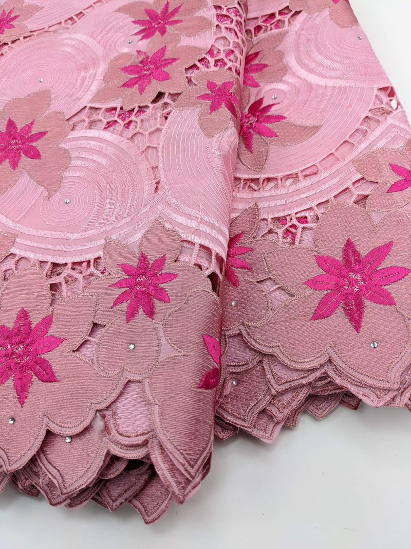 Shades Of Pink Cotton Lace