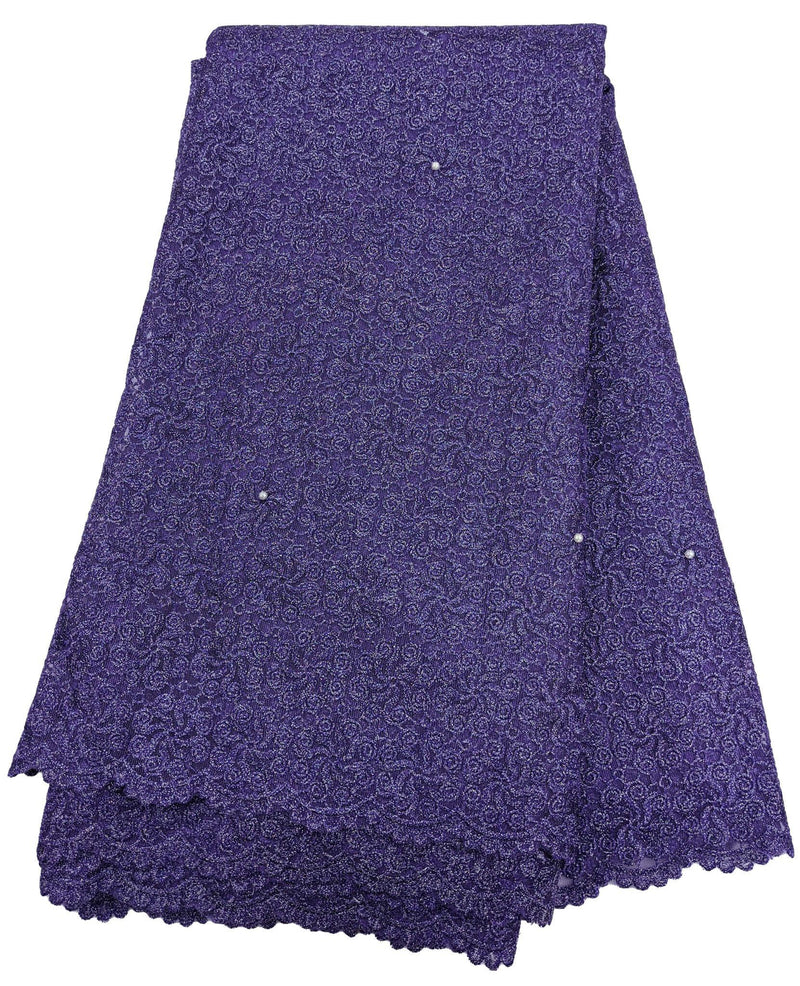Two-Toned Purple French Net Lace