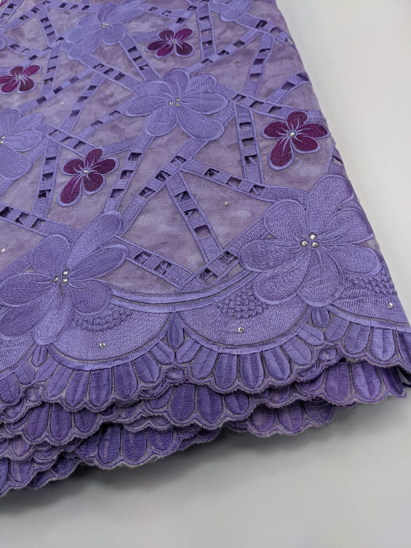 Shades Of Purple Organza Lace