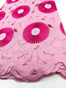 Pink & Silver Cotton Lace