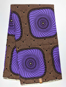 West African Wax Print Fabric - 6 Yards