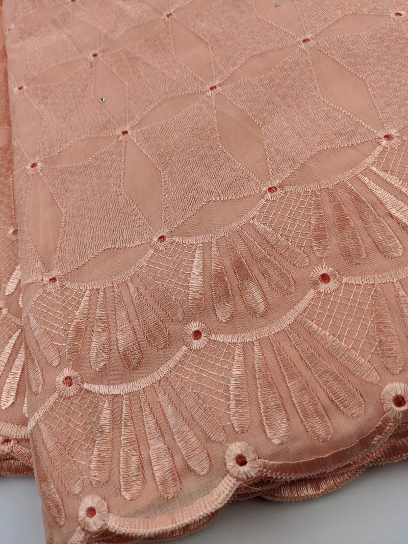 Peach Cotton Lace