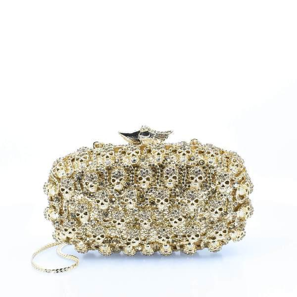 Gold Detailed Agbọn Clutch Purse