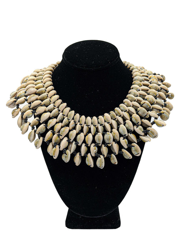 Cowrie Shell Collar Necklace - AFRIKAN ATTIRE - african_clothing - - african_attireAFRIKAN ATTIRE - african_fashion