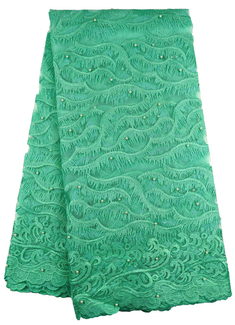 Green French Net Lace