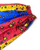 Star Print Multicolored Wax Long Skirt