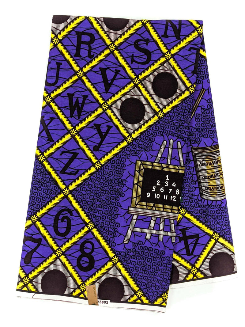 Purple and Yellow Ankara Wax Print