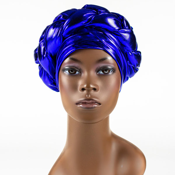 Blue Braided Turban