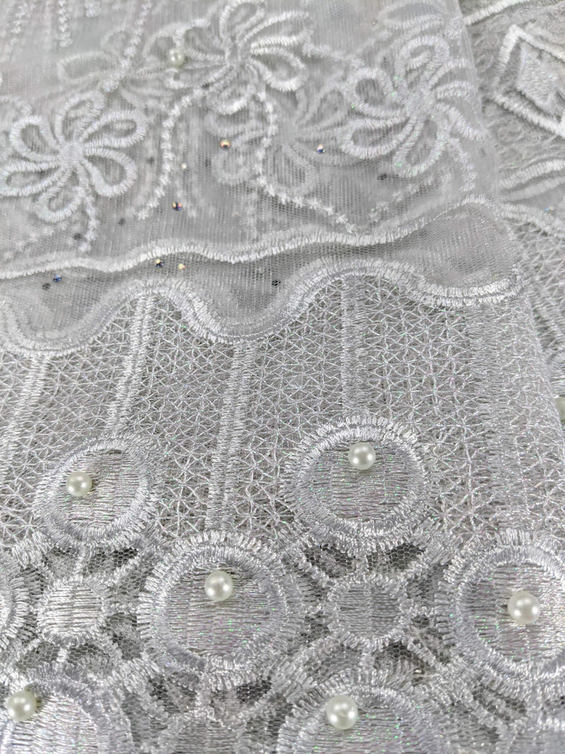 Silver French Net Lace