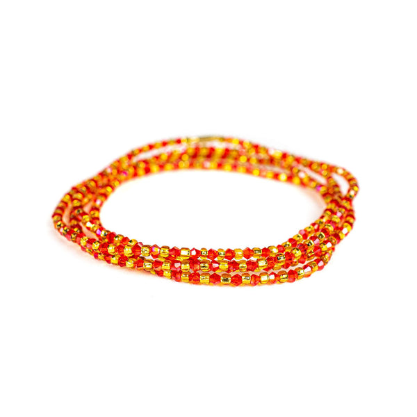 Red Shinny Clasp Waist Beads