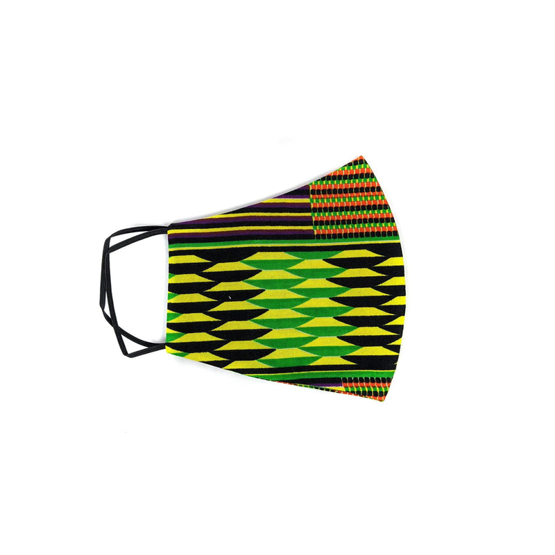 Kente Cloth Mask with Disposal Filters